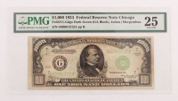 1934 $1000 One Thousand Dollars Federal Reserve Note (PMG 25)