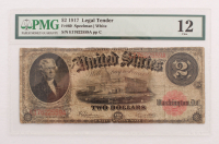 1917 $2 Two Dollars Legal Tender Large Bank Note (PMG 12)