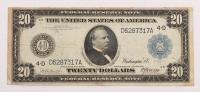 1914 $20 Twenty Dollars U.S. Blue Seal Federal Reserve Bank Note