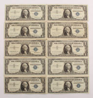 Lot of (10) 1957 $1 One Dollar Blue Seal Silver Certificates