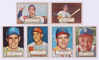 Lot of (6) 1952 Topps Baseball Cards with #211 Ray Coleman, #294 Walker Cooper, #242 Tom Poholsky RC, #223 Del Ennis