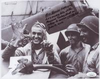 Alexander Vraciu Signed WWII 8x10 Photo with Multiple Inscriptions (JSA COA)