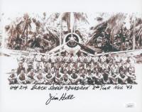 Jim Hill Signed 8x10 Photo with Multiple Inscriptions (JSA COA)