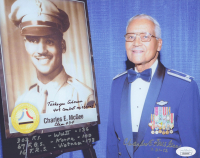 Charles McGee Signed 8x10 Photo with Multiple Inscriptions (JSA COA)