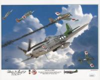 "Abner M. Aust Jr. Signed ""Last Ace of WWII"" 8x10 Photo Inscribed ""7/16/45"" (JSA COA)"