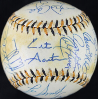1994 American League All-Star Game Logo Baseball Team-Signed by (26) with Ken Griffey Jr., Cal Ripken Jr., Roberto Alomar, Wade Boggs, Randy Johnson (PSA COA)