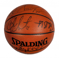 1994–1995 Chicago Bulls NBA Basketball Team-Signed by (13) with Scottie Pippen, Steve Kerr, Toni Kukoc, Ron Harper, B. J. Armstrong (PSA LOA)