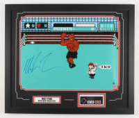 "Mike Tyson Signed ""Punch-Out!!"" 22x26 Custom Framed Photo Display with Nintendo Controller (Steiner Hologram & Fiterman Sports Hologram)"