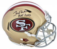 "Jerry Rice Signed San Francisco 49ers Full-Size Authentic On-Field Speed Helmet Inscribed ""HOF 2010"" (Beckett COA)"