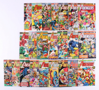 "Lot of (23) 1973-76 ""The Avengers"" #116-#148 Marvel Comic Books at PristineAuction.com"