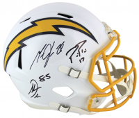 Philip Rivers, Antonio Gates, & Melvin Gordon Signed Los Angeles Chargers Full-Size Speed Helmet (Beckett COA)