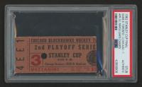 Authentic 1962 Stanley Cup Final Ticket (PSA Authentic)
