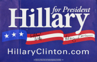 "Hillary Clinton, Bill Clinton, & Chelsea Clinton Signed Presidential Campaign Sign Inscribed ""Go Hillary!"" (Beckett LOA)"
