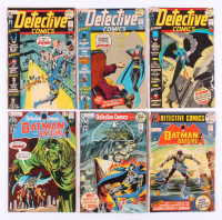 "Lot of (6) 1971-72 ""Detective Comics"" DC Comic Books with #413, #414, #419, #421, #422, & #423"