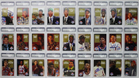 1992-93 Skybox Draft Picks Basketball Complete Set of (27) Signed & PSA Encapsulated Cards with Shaquille O'Neal, Christian Laettner, Alonzo Mourning