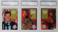 1992-93 Skybox Draft Picks Basketball Complete Set of (27) Signed & PSA Encapsulated Cards with Shaquille O'Neal, Christian Laettner, Alonzo Mourning at PristineAuction.com