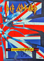 "Def Leppard 1993 ""The Never-Ending Weekend Tour"" Program Band-Signed by (4) with Rick Allen, Rick Savage, Joe Elliott, & Phil Collen (PSA LOA)"