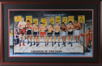 "LE ""Legends of the Ring"" 20x33 Custom Framed Lithograph Signed by (10) with Muhammad Ali, Joey Giardello, Jake Lamotta, Carlos Ortiz, Floyd Patterson (PSA COA)"