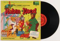 "Vintage 1973 Walt Disney ""Robin Hood"" Vinyl Record Album"