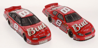 Lot of (2) Dale Earnhardt Jr 1:24 Scale Die Cast Cars with (1) #8 Budweiser 2002 Monte Carlo & (1) #8 Budweiser 2004 Monte Carlo at PristineAuction.com