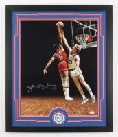 "Julius ""Dr. J"" Erving Signed Philadelphia 76ers 22x26 Custom Framed Photo Display (JSA COA)"