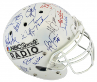 NBC Sports Radio Full-Size Authentic On-Field Helmet Signed by (25) with Ozzie Smith, Charles Barkley, Jerry Rice, Ivan Rodriguez (Beckett LOA)