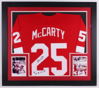 "Darren McCarty Signed 31x35 Custom Framed Jersey Inscribed ""SC 97, 98, 02, 08"" (JSA COA)"