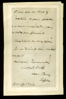 Charles Cornwallis Signed Handwritten Letter (Beckett LOA)