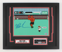 "Mike Tyson Signed ""Punch-Out!!"" 18x22 Custom Framed Print Display (Fiterman Hologram)"