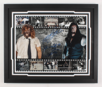 "Mick Foley & The Undertaker Signed WWE 22x26 Custom Framed Photo Display Inscribed ""Hell in a Cell 98"" (JSA COA)"