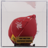 Mike Tyson Signed Everlast Speed Bag with Display Case (PSA COA)