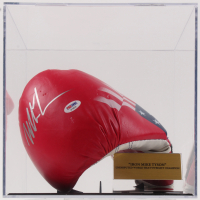 Mike Tyson Signed Everlast Boxing Glove with Display Case (PSA COA & Fiterman Sports Hologram)