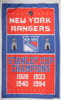 New York Rangers Stanley Cup Champions Logo 35x60 Flag at PristineAuction.com