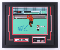 """Mike Tyson Signed """"Punch-Out!!"""" 18x22 Custom Framed Photo Display with Nintendo Controller (Fiterman Sports Hologram)"""
