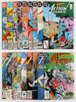"Lot of (18) 1989-1990 DC ""Action Comics"" Books with Issues #523, #533, #545, #556, #558, #559"