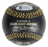Vin Scully Signed OML Black Leather Baseball (Beckett COA) at PristineAuction.com