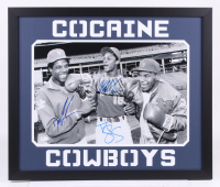 """Dwight """"Doc"""" Gooden, Darryl Strawberry & Mike Tyson Signed """"Cocaine Cowboys"""" 22x26 Custom Framed Photo Display (JSA COA) at PristineAuction.com"""