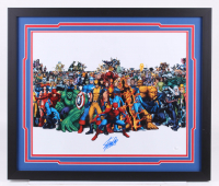 "Stan Lee Signed ""Marvel"" 22x26 Custom Framed Photo Display (JSA COA)"