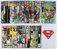 "Lot of (35) 1985-2001 DC ""Adventures of Superman"" Comic Books with Issues #473, #467, #464, #437, #583, #581"