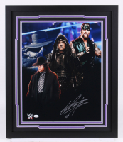 The Undertaker Signed WWE 22x26 Custom Framed Photo Display (JSA COA)