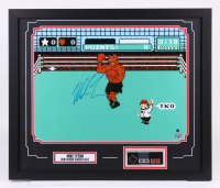 "Mike Tyson Signed ""Punch-Out!!"" 22x26 Custom Framed Photo Display with Nintendo Controller (Fiterman Hologram & Steiner Hologram)"
