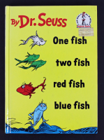 """Dr. Seuss Signed """"One Fish, Two Fish, Red Fish, Blue Fish"""" Hardcover Book (PSA COA)"""