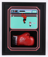 Mike Tyson Signed 22x26x5.25 Custom Framed Boxing Glove Shadowbox Display (Fiterman Hologram)