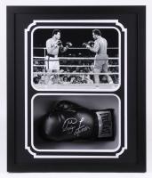 George Foreman Signed 22x26x5.25 Custom Framed Boxing Glove Shadowbox Display (Fiterman Hologram & Foreman COA)