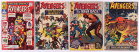 """Lot of (4) 1965-1967 Marvel """"The Avengers"""" 1st Series Comic Books with Issues #22, #23, #24 & Annual 1"""