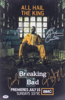 """Breaking Bad"" 12x18 Photo Signed by (9) with Bryan Cranston, Aaron Paul, RJ Mitte, Betsy Brandt, Bob Odenkirk, Anna Gunn (PSA LOA)"