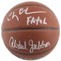 "Chevy Chase & Kareem Abdul-Jabbar Signed NBA Basketball Inscribed ""Fletch"" (PSA COA & Beckett COA)"