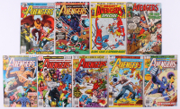 "Lot of (9) 1970-1979 Marvel ""The Avengers"" 1st Series Comic Books with Issues #77, #137, #179, #184, #182"