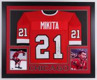 Stan Mikita Signed 35x43 Custom Framed Jersey (Beckett COA)