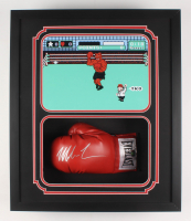 """Mike Tyson Signed """"Punch-Out!!"""" 22x26x5.25 Custom Framed Boxing Glove Shadowbox Display (Fiterman Hologram)"""